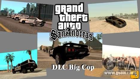 DLC Big Cop and All Previous DLC para GTA San Andreas