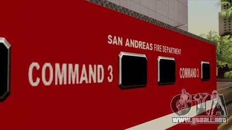 FDSA Mobile Command Post Truck para la visión correcta GTA San Andreas