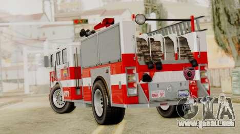 MTL SAFD Firetruck para GTA San Andreas left