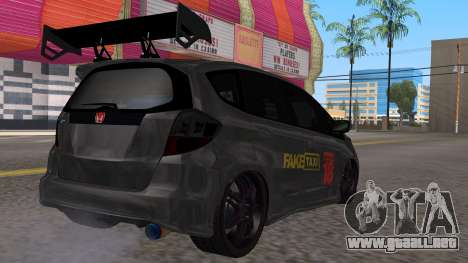 Honda Fit 2009 Faketaxi para GTA San Andreas left