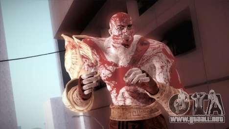 God Of War 3 Kratos Blood para GTA San Andreas