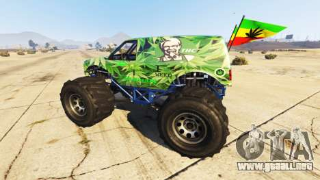 GTA 5 Vapid The Liberator Cannabis vista lateral izquierda