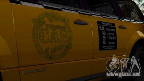 Landstalker Taxi SR 4 Style para la visión correcta GTA San Andreas