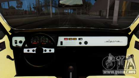 Renault 12 Alpine para la visión correcta GTA San Andreas