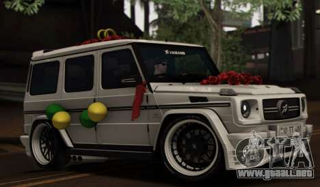 Mercedes Benz G65 Hamann Tuning Wedding Version para vista inferior GTA San Andreas