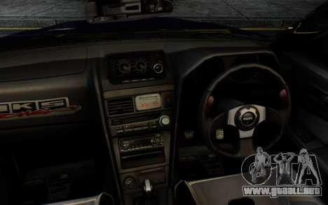 Nissan Skyline GT-R R34 Battle Machine para la visión correcta GTA San Andreas