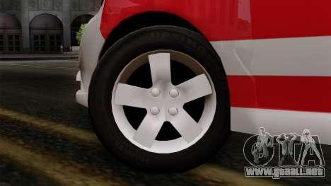 Chevrolet Aveo Taxi Poza Rica para GTA San Andreas vista posterior izquierda