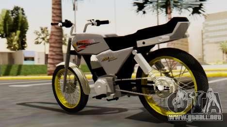 Suzuki AX 100 Stunt para GTA San Andreas left