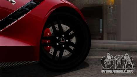 Chevrolet Corvette C7 Stingray 1.0.1 para la visión correcta GTA San Andreas