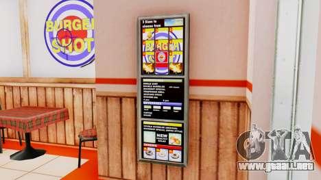 Real de comida rápida para GTA San Andreas sucesivamente de pantalla