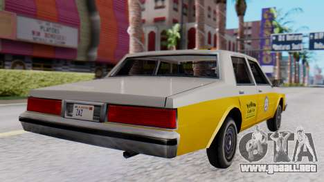 Chevrolet Caprice 1980 SA Style Cab para GTA San Andreas left