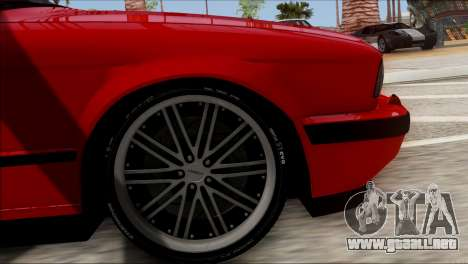 BMW M5 E34 BUFG Edition para GTA San Andreas vista posterior izquierda