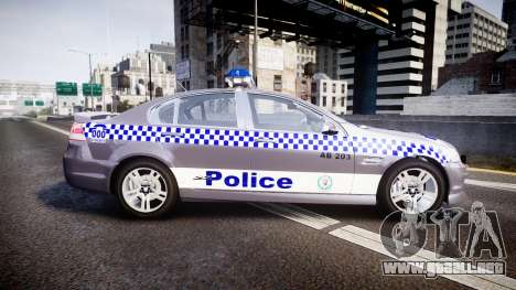 Holden VE Commodore SS Highway Patrol [ELS] para GTA 4 left