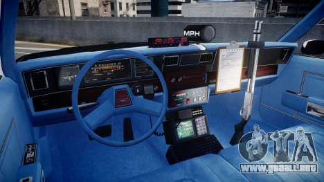 Chevrolet Caprice 1989 LAPD [ELS] para GTA 4 vista hacia atrás