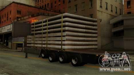 Flatbed3 Grey para GTA San Andreas left