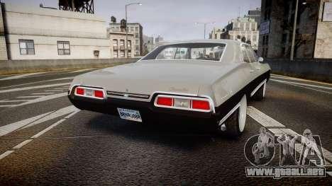 Chevrolet Impala 1967 Custom para GTA 4 Vista posterior izquierda