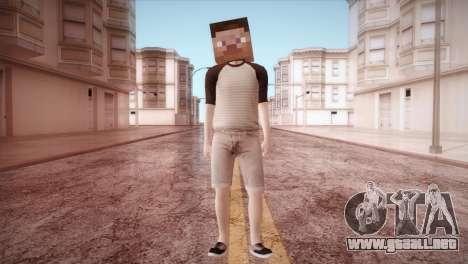 Minecraft Boy para GTA San Andreas segunda pantalla
