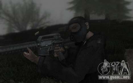 GTA5 Gasmask para GTA San Andreas quinta pantalla