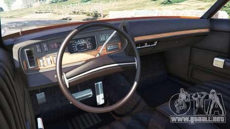 GTA 5 Dodge Polara 1971 vista lateral trasera derecha