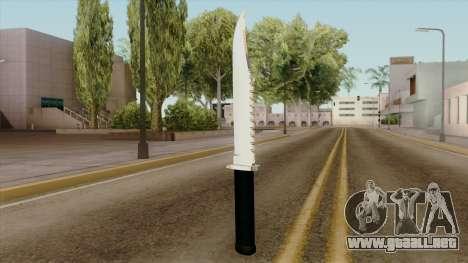 Original HD Knife para GTA San Andreas segunda pantalla