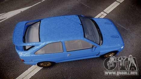 Ford Escort RS Cosworth para GTA 4 visión correcta