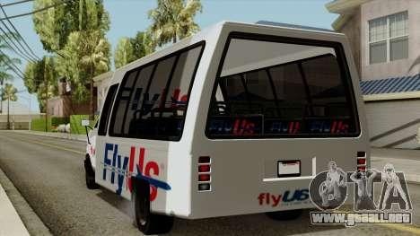 Fly Us Airport Bus para GTA San Andreas left