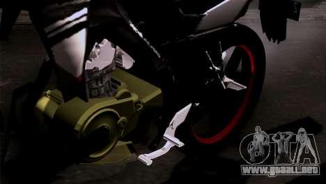 Yamaha Vixion Advance Lominous White para GTA San Andreas vista hacia atrás