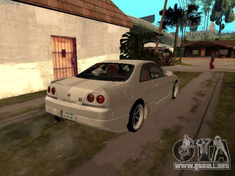 Nissan Skyline R33 Drift Monster Energy JDM para GTA San Andreas vista hacia atrás