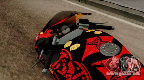 Bati Batik para GTA San Andreas vista hacia atrás