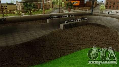 HD Skate Park para GTA San Andreas sucesivamente de pantalla