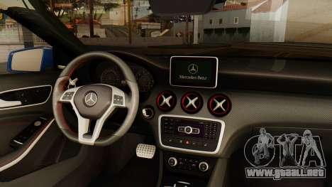 Mercedes-Benz A45 AMG 2012 PJ para GTA San Andreas vista posterior izquierda