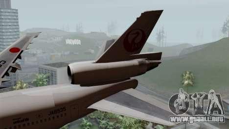 DC-10-30 Japan Airlines para GTA San Andreas vista posterior izquierda