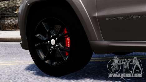Jeep Grand Cherokee SRT8 2015 para GTA 4 visión correcta