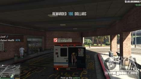 La misión de la ambulancia v. 1.3 para GTA 5