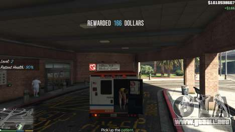 GTA 5 La misión de la ambulancia v. 1.3 quinta captura de pantalla