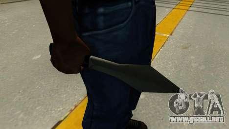 Lanzar cuchillo para GTA San Andreas segunda pantalla