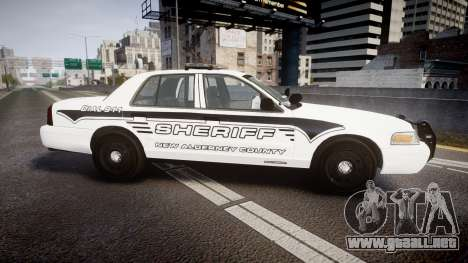 Ford Crown Victoria 2011 New Alderney Sheriff para GTA 4 left