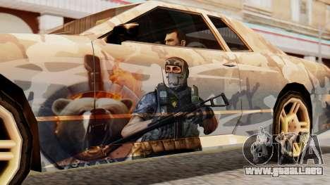 Elegy Contract Wars Vinyl para GTA San Andreas vista posterior izquierda