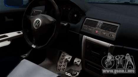 Volkswagen Golf Mk4 Stance para la visión correcta GTA San Andreas