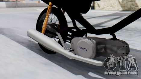 Honda Wave Stunt para GTA San Andreas vista posterior izquierda