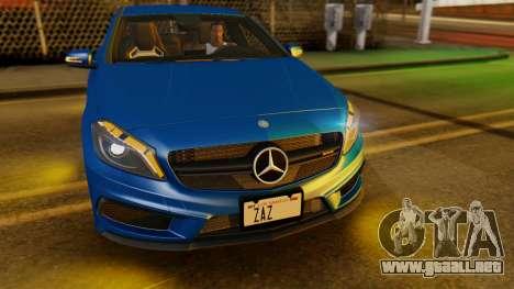 Mercedes-Benz A45 AMG 2012 PJ para visión interna GTA San Andreas
