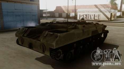 BTR-D para GTA San Andreas vista posterior izquierda