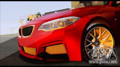 BMW 235i F22 para GTA San Andreas vista posterior izquierda