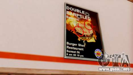 Real de comida rápida para GTA San Andreas tercera pantalla