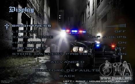 Night Menu para GTA San Andreas quinta pantalla