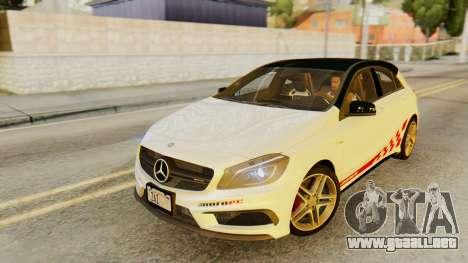 Mercedes-Benz A45 AMG 2012 PJ para las ruedas de GTA San Andreas