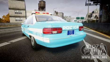 Chevrolet Caprice 1991 Police para GTA 4 Vista posterior izquierda