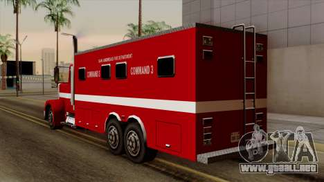 FDSA Mobile Command Post Truck para GTA San Andreas left