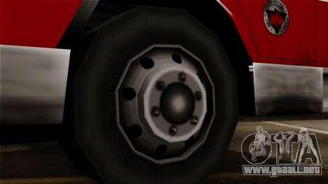FDSA Urban Search & Rescue Truck para GTA San Andreas vista posterior izquierda