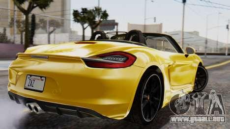 Porsche Boxter GTS 2016 para GTA San Andreas left